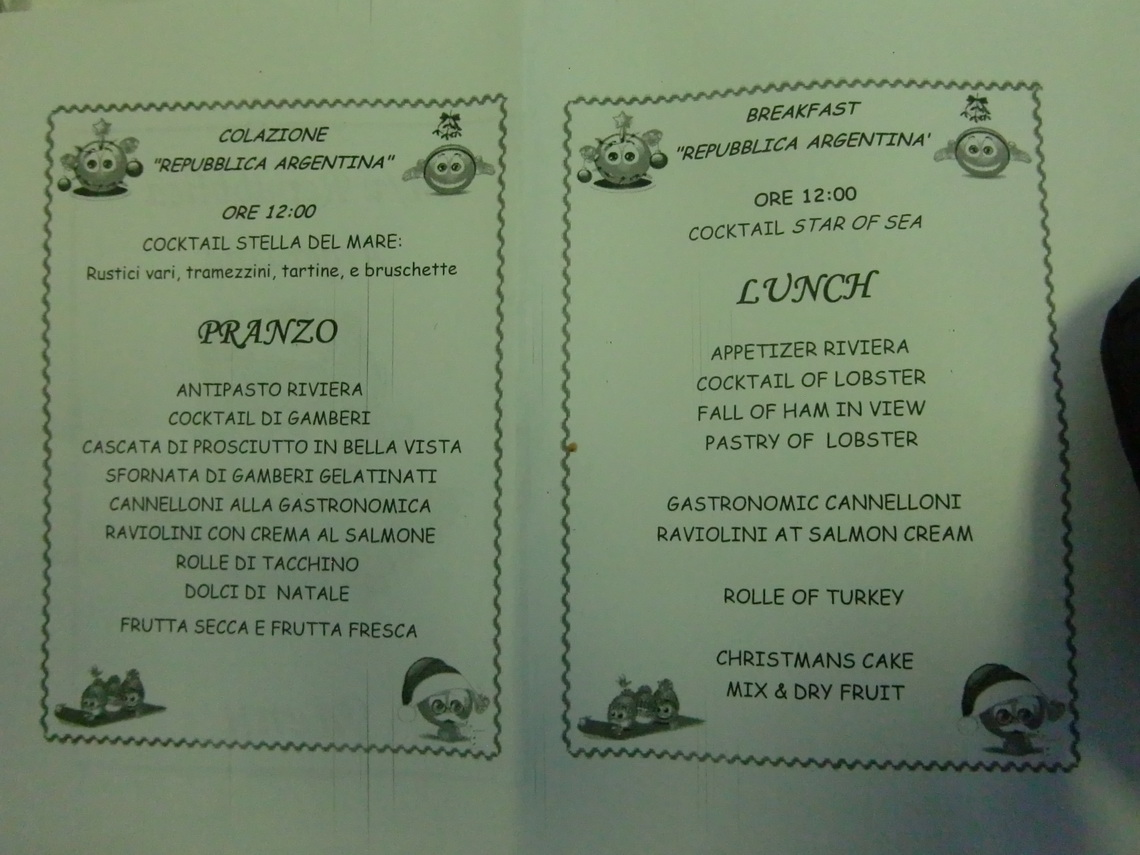Our Christmas Menu