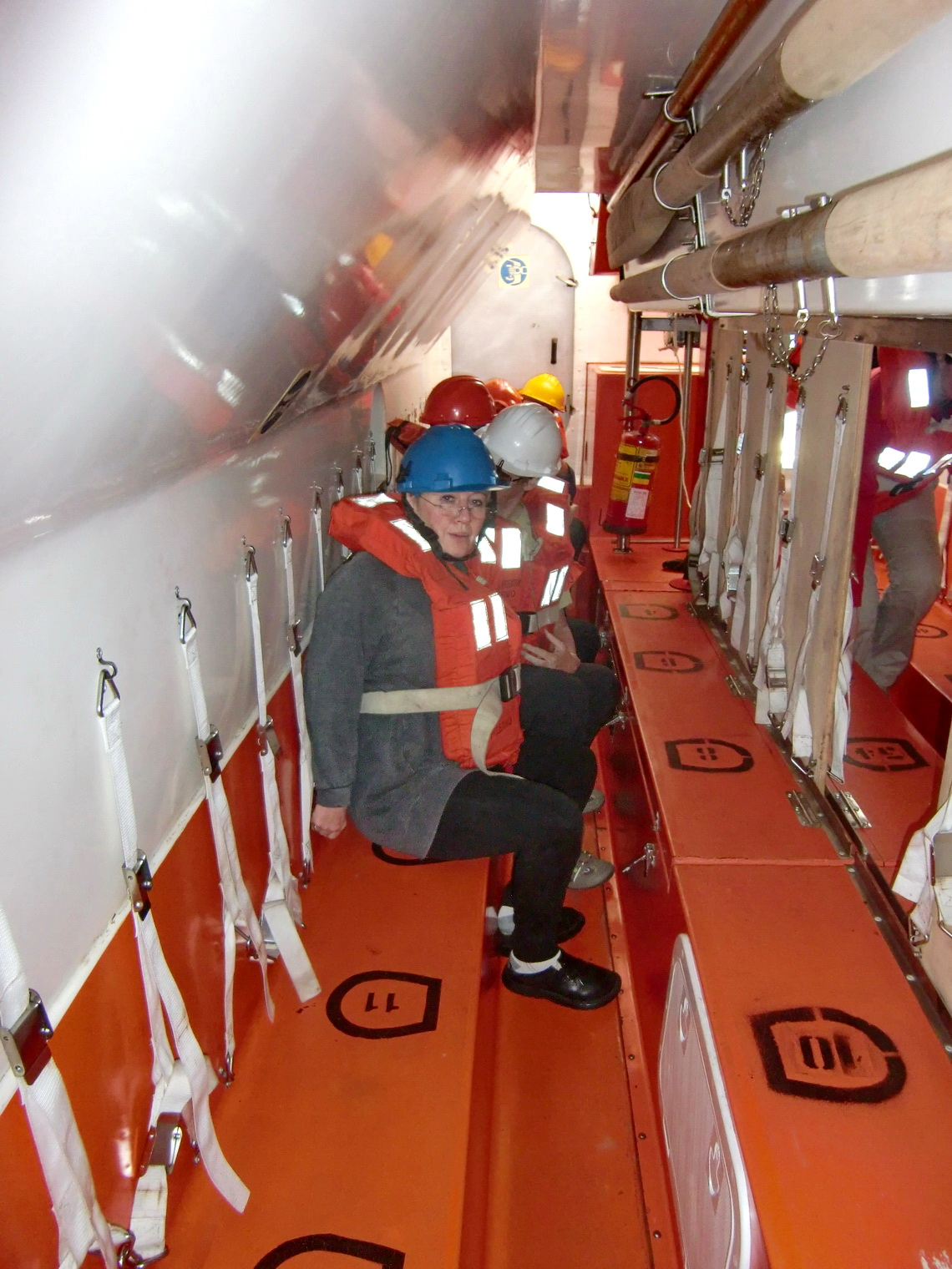 Inside the lifeboat