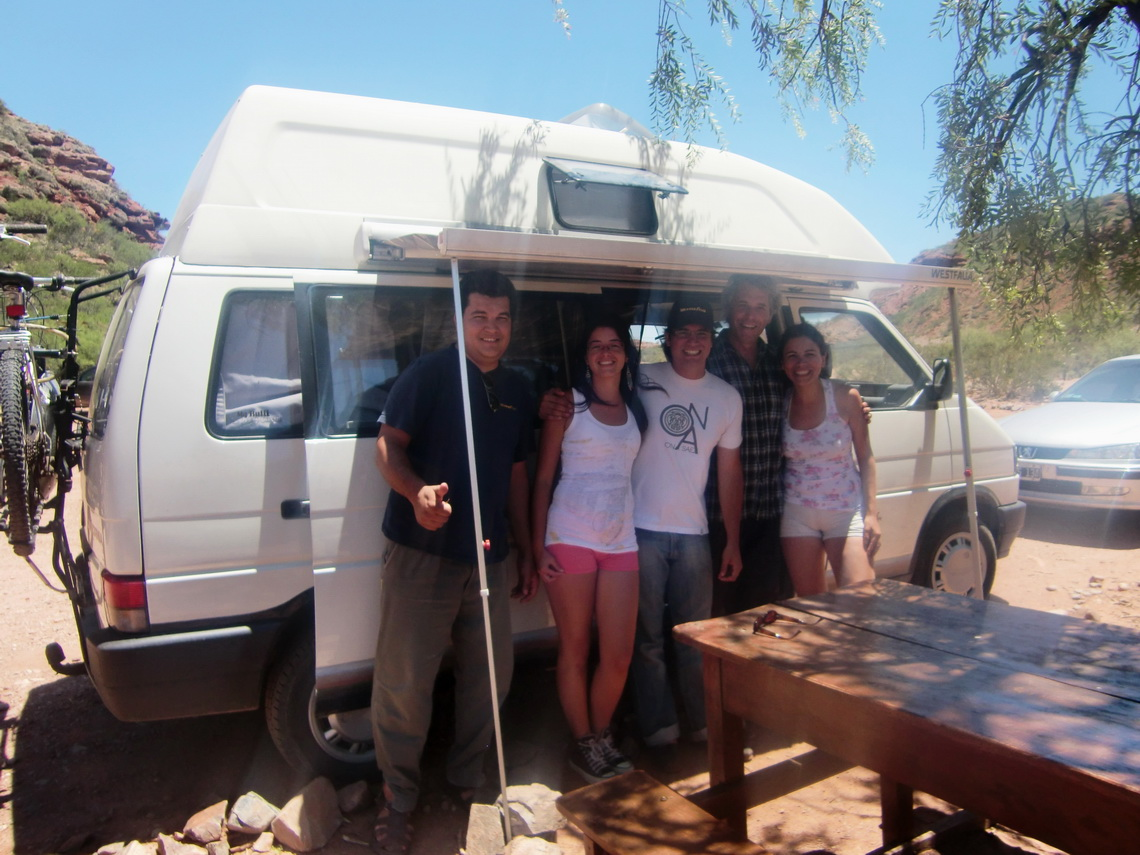 Our Camping Place with the two Argentine couples