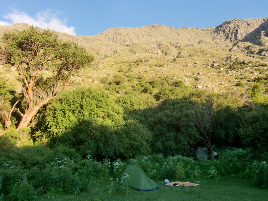 Our Camping place, the Hueco